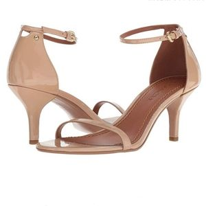 New Coach leather heel sandals